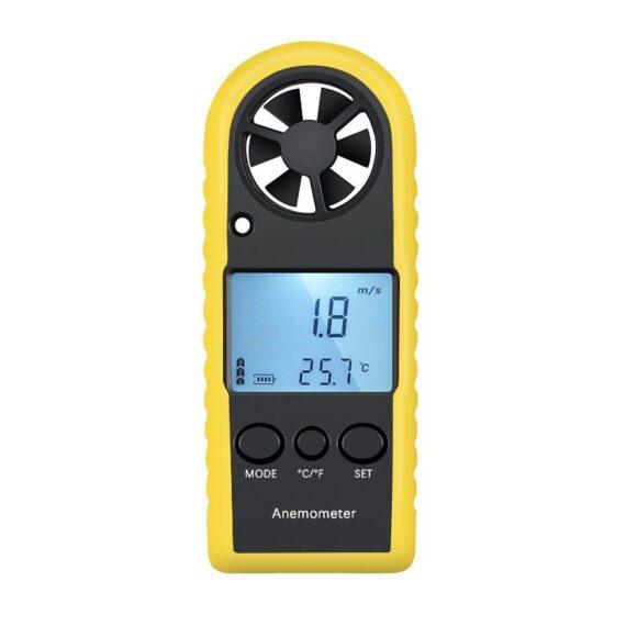 anemometro y termometro digital